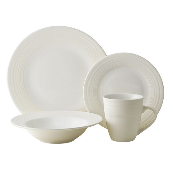 Thomson Dinnerware - Ivory Loop - 16 piece