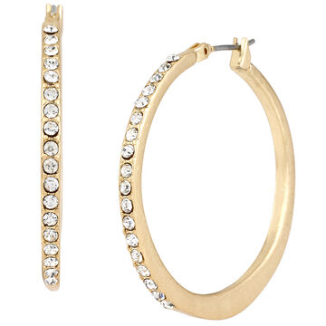 Kenneth Cole Hoop Earrings - Crystal/Gold Plated