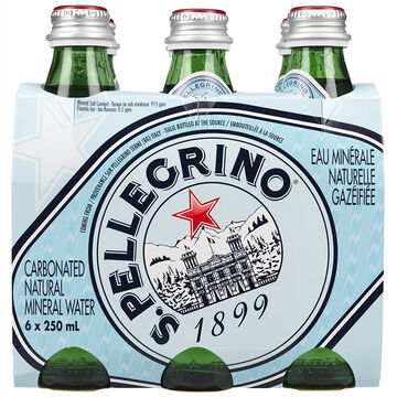 San Pellegrino Carbonated Natural Mineral Water - 6x250ml