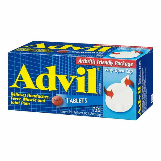 Advil Ibuprofen Easy Open Tablets - 150's
