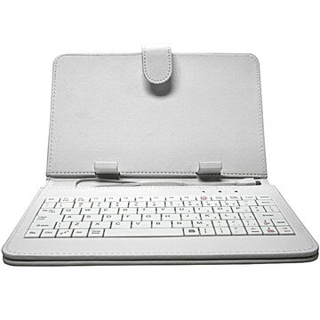 Proscan Case with Keyboard - 7inch - White - PLTACCES-WH