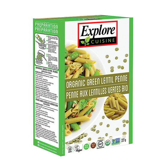 Explore Cuisine Penne - Green Lentil - 227g