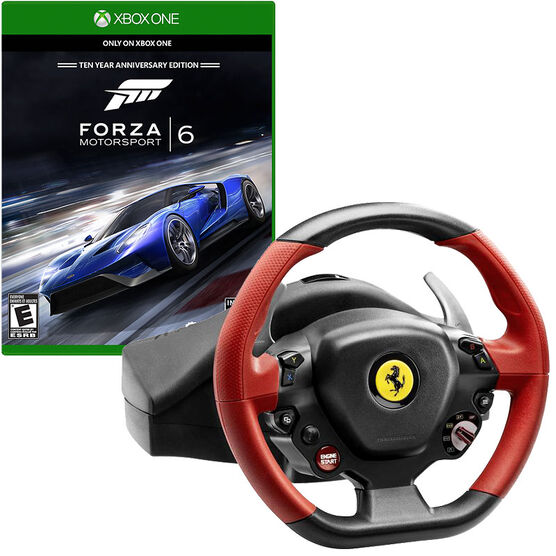 Thrustmaster Ferrari 458 Spider Racing Wheel for Xbox One and Forza 6 Bundle