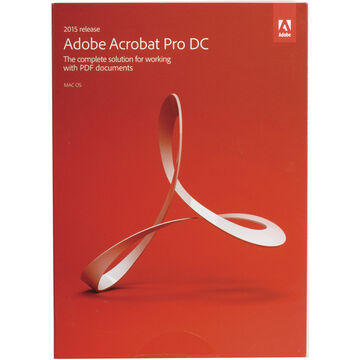 Adobe Acrobat Pro DC (2015, Macintosh, Boxed)