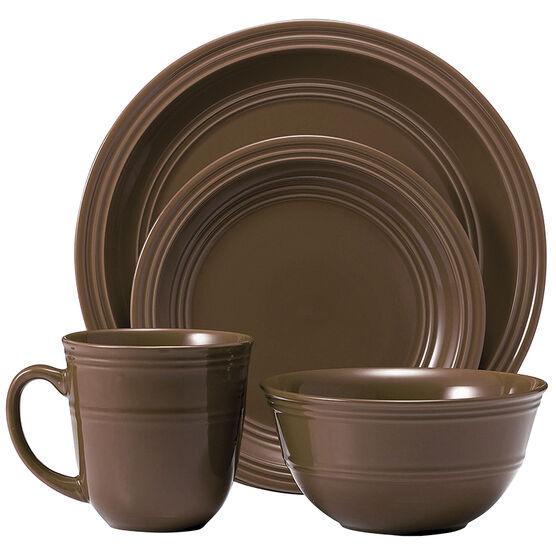 Thomson Ribbed Dinnerware - Brown - 16 piece