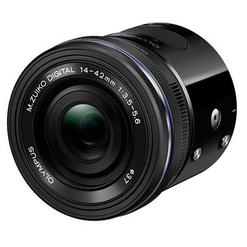 Olympus Air A01 Black Body with 14-42mm EZ Black Lens - V208011BU000
