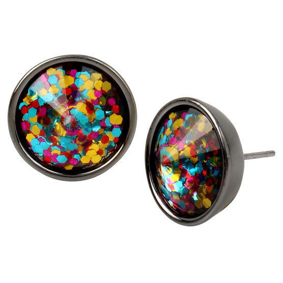 Betsey Johnson Confetti Stud Earrings - Multi