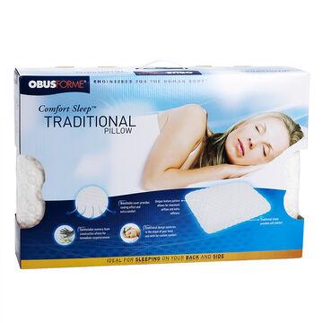 ObusForme Comfort Sleep Traditional Pillow - 40x60x14cm - PL-COMFORT-SLTR