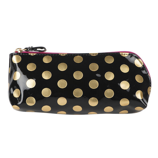 Modella Pencil Case Black with Gold Foil Dots - A000712LDC