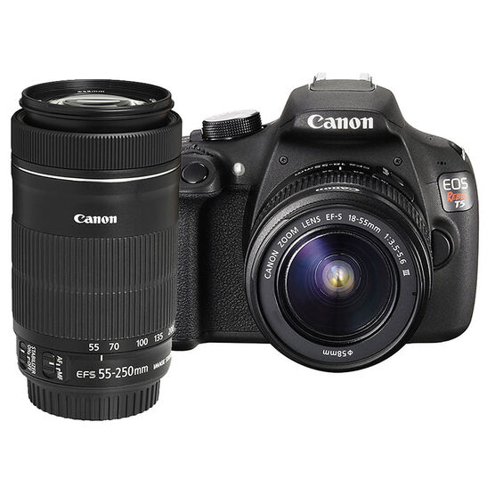 Canon T5 with 18-55mm DC III and EF-S 55-250mm F4-5.6 IS STM Lens