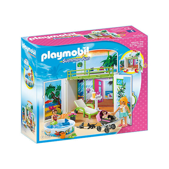 Playmobil Summer Fun - My Secret Beach Bungalow Play Box