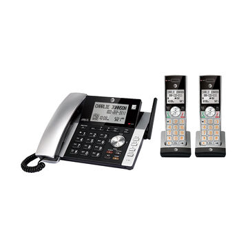 AT&T Corded/2 Cordless Handset Phone - Silver - CL84215