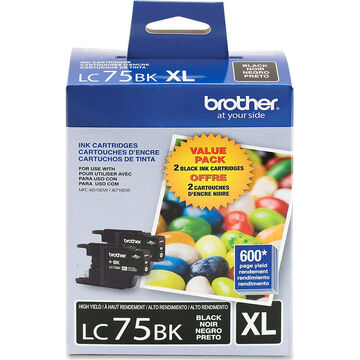 Brother LC752PKS High Yield Ink Cartridges - 2 pack - Black