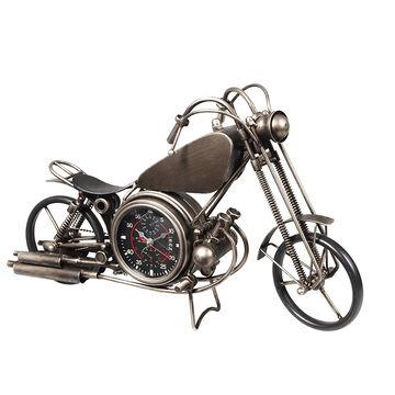 London Drugs Metal Motor Cycle Desk Clock - 50 x 14 x 30cm