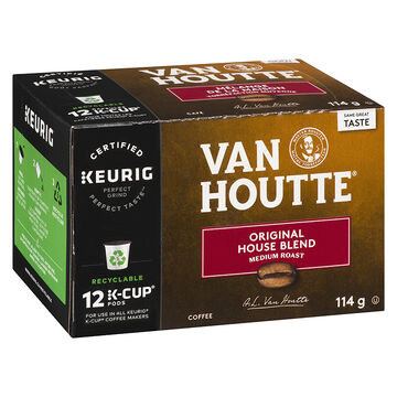 K-Cup Van Houtte Medium Roast Coffee - Original House Blend - 12 Servings