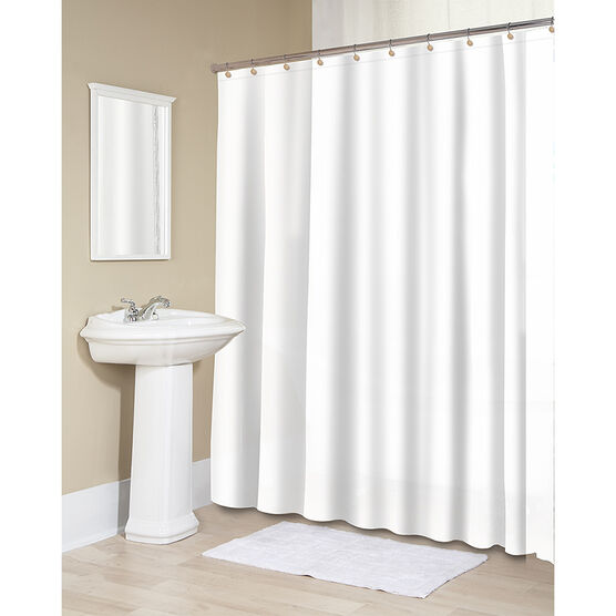 Splash Vinyl Shower Curtain Liner - White