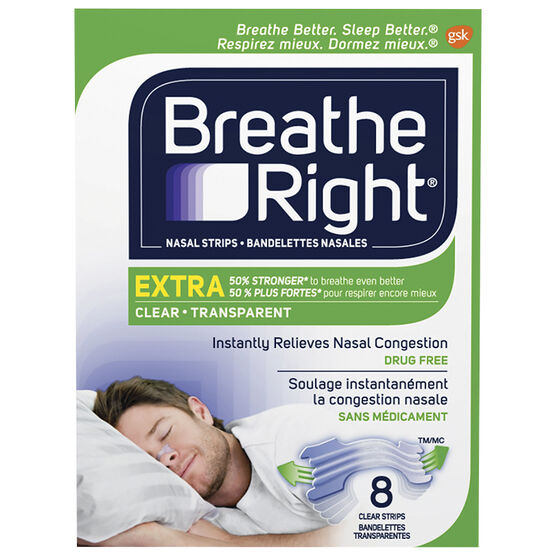 Breathe Right Extra - Clear - 8's