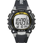 Timex Ironman Triathlon 100 Lap Watch with FLIX  - Black/Silver - 5E231