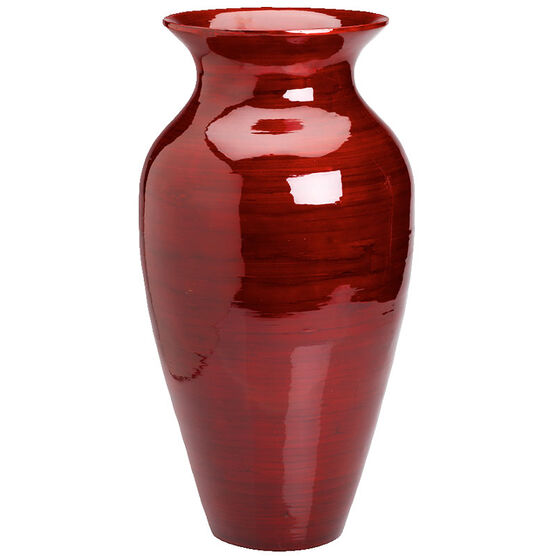 Red Spun Bamboo Vaselondon Drugs Spun Bamboo Vase Red Cm London