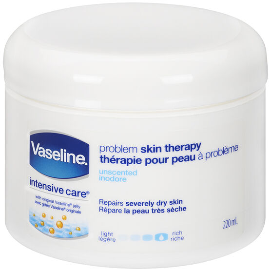 Vaseline Problem Skin Therapy Creamy Petroleum Jelly - Unscented - 220ml