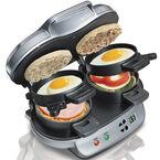 Hamilton Beach Dual Breakfast Sandwich Maker - Silver - 25490C