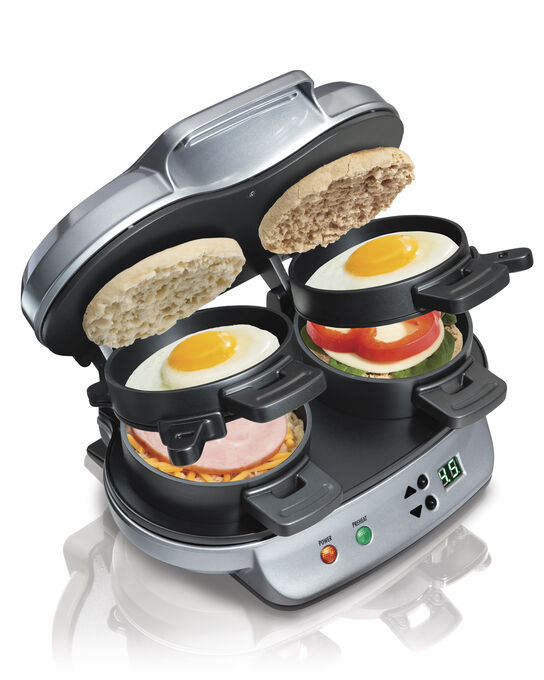 Hamilton Beach Dual Breakfast Sandwich Maker - Silver - 25490C