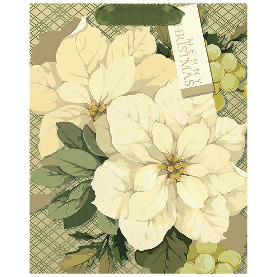 Hallmark Poinsettia Gift Bag - Large - Elegant Golds - 0349XGB1263