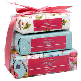 Bunch of Flowers Soap Set - Morrocan Rose - 3 piece