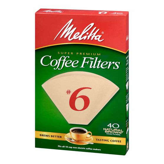 Melitta Coffee Filters - No.6 - Natural Brown - 40's