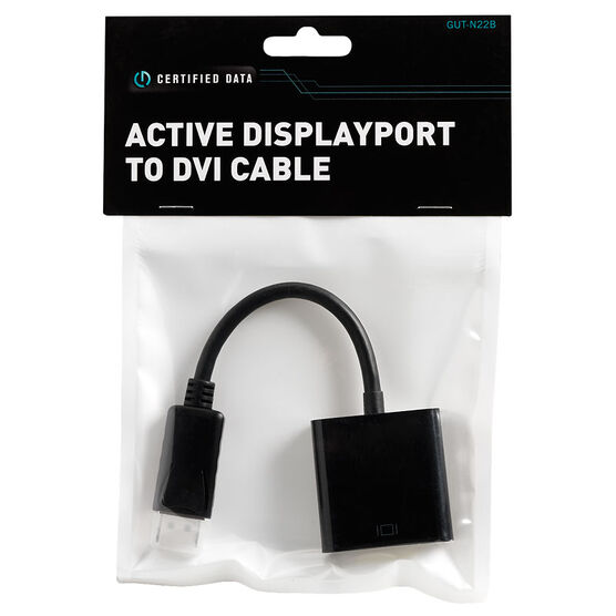 Certified Data Active DisplayPort to DVI Cable - GUT-N22B