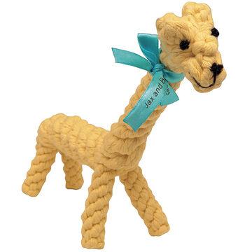 Jaxbones Rope Dog Toy - Giraffe - 9inch