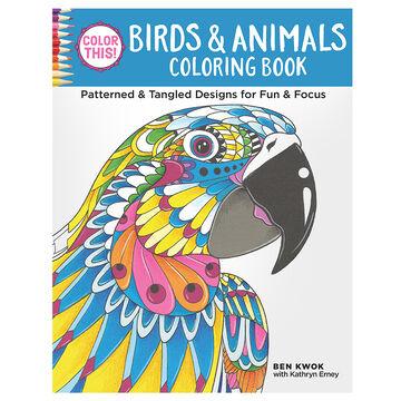 Colour This! Birds & Animals Coloring Book