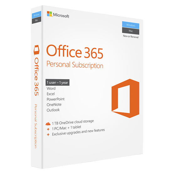 Microsoft Office 365 Personal – 1 year subscription