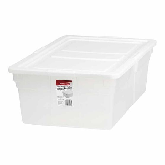 Rubbermaid See-Through Storage Box - 41.6L