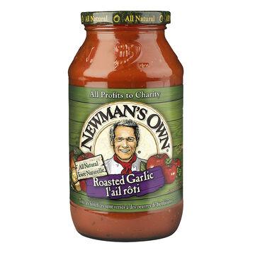 Newman's Own Sauce - Roasted Garlic - 645ml