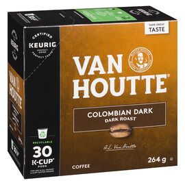 K-Cup Van Houtte Coffee - Columbian Dark Roast - 30 Servings