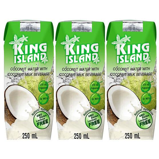 King Island Coconut Water with Coconut Milk - 3 x 250ml