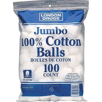 London Drugs Jumbo 100% Cotton Balls - 100's