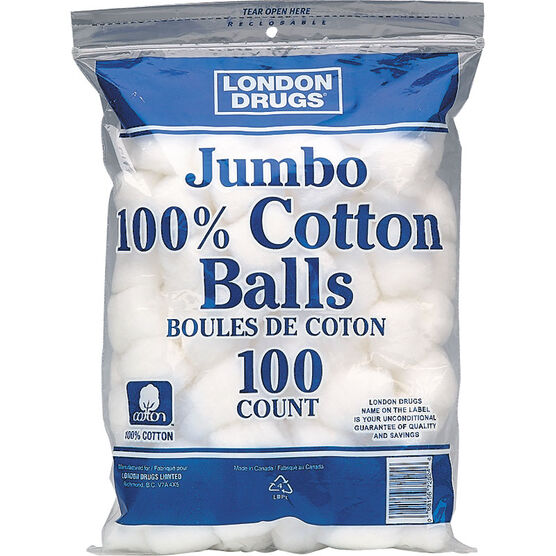 London Drugs Jumbo 100% Cotton Balls - 100's