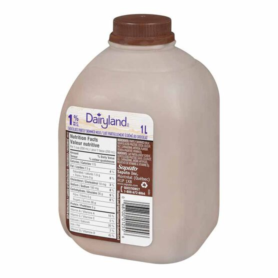 Dairyland Chocolate Milk - 1% - 1L Jug