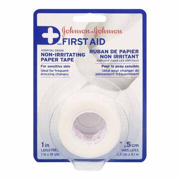 Johnson & Johnson Non Irritating Paper Tape - 1inch x 10yards