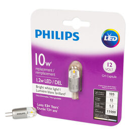 Philips G4 Capsule LED Replacement Bulb - Bright White - 10W