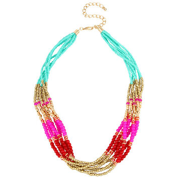 Haskell Beaded Torsade Necklace - Multi