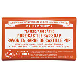 Dr Bronner's Pure Castile Bar Soap - Tea Tree - 140g