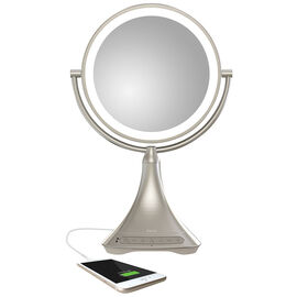 iHome 9-in Vanity Mirror with Bluetooth Speaker - ICVBT7 SN