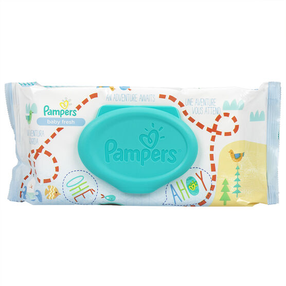 Pampers Wipes Baby Fresh - 64's