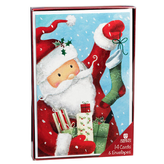 Plus Mark Christmas Cards - Santa & Tree - 14 count - Assorted