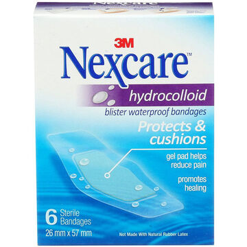 Nexcare Hydrocolloid Blister Waterproof Bandages - 6's