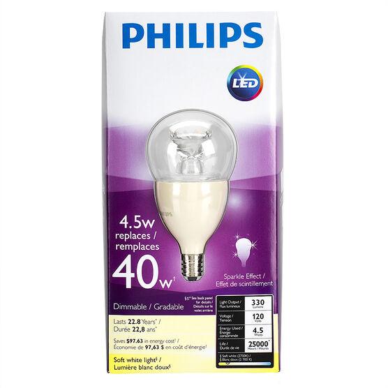 Philips Chandelier LED Fan - Soft White - Medium Base - 4.5w/2700k