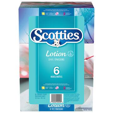 Scotties Lotion Tissues - 6 x 70's